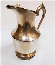 Sale 8272A - Lot 6 - A vintage French silver plate water jug  Size: 23 x 19 cm