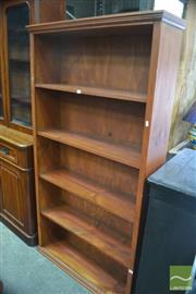 Sale 8409 - Lot 1702 - Open Timber Bookcase