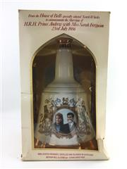 Sale 8454W - Lot 48 - 1x Bells Blended Scotch Whisky - to commemorate the marriage Andrew & Fergie, in box (box damaged)