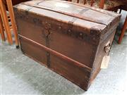Sale 8476 - Lot 1035 - French Dome Carriage Trunk