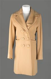 Sale 8493A - Lot 5 - A Scanlan & Theodore Camel coat, AU size 8