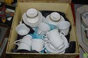 Sale 8563T - Lot 2531 - Cased Sheffield Tea Service, Side Plates and Candle Holders (serves 8)