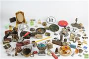 Sale 8551 - Lot 84 - Ephemera Incl Badges/Pins, Perfume Bottle, Bell and others