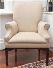 Sale 8575H - Lot 62 - A contemporary occasional chair in the Georgian style, in need of reupholstery