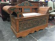 Sale 8760 - Lot 1016 - Hand Painted Indian Love Seat