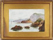 Sale 8845 - Lot 2039 - Artist Unknown (Early C20th) - Coastal Scene, 1919 30.5 x 48.5cm