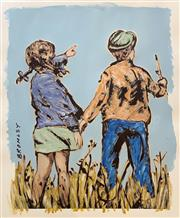 Sale 9006A - Lot 5037 - David Bromley (1960 - ) - Holding Hands 103 x 92 cm (sheet)