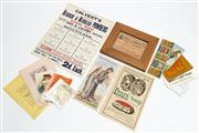 Sale 9054E - Lot 64 - A group of ephemera including cards and labels.