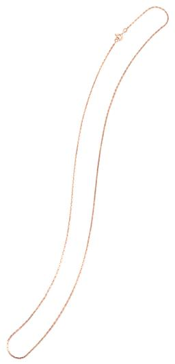 Sale 9149 - Lot 464 - A 14CT ROSE GOLD BOSTON LINK CHAIN; with bolt ring clasp, length 66cm, Russian marks, wt. 6.38g.