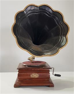 Sale 9218 - Lot 1052 - Columbia records gramophone - head in office (h:74 x d:36cm)