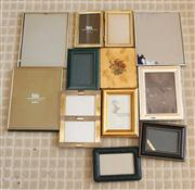Sale 8250 - Lot 9 - A Selection of Various EPNS , Leather and Brass Photograph Frames  in varying sizes