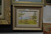 Sale 8441T - Lot 2040 - Ward Pike - Picnic with the Seagulls, Shelly Park, oil on canvas board, 13.5 x 18.5cm, signed lower right