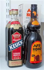 Sale 8486A - Lot 71 - Two bottles of Keuck Turkish Mocha, together with 2 x bottles of Afrikoko