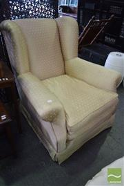 Sale 8532 - Lot 1289 - Fabric Lounge Chair With Down Cushions