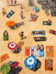 Sale 8583A - Lot 5009 - Stanley Perl (1942 - ) - Sun Worshippers 61 x 46cm