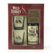 Sale 8588 - Lot 757 - 1x Austin Nichols 'Wild Turkey' Kentucky Straight Bourbon Whiskey - old bottling, limited release gift pack w 2 glasses