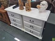 Sale 8620 - Lot 1024 - Pair of Modern White Bedsides