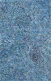 Sale 8647 - Lot 580 - Jeannie Petyarre (1956 - ) - Bush Yam Leaves 150 x 95cm