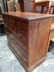 Sale 8728 - Lot 1013 - Victorian Ash & Burr Walnut Chest of Seven Drawers