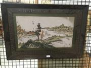 Sale 8759 - Lot 2102 - Framed Oriental Shell Landscape -