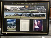 Sale 8805A - Lot 886 - Tiger Woods British Open, signed & framed with COA