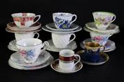 Sale 8994 - Lot 99 - Group of 7 trios incl. Royal Doulton, Spode, together with 2 duos