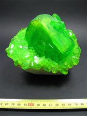 Sale 8331A - Lot 507 - Green Boussingaultite Cluster on Quartz