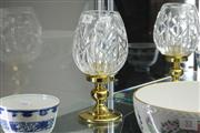 Sale 8360 - Lot 56 - Waterford Crystal Andover Hurricane Lamp