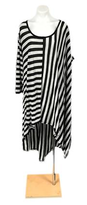 Sale 8640F - Lot 23 - A Sass and Bide striped dress, 100% wool in black and cream, size 10.