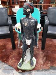 Sale 8723 - Lot 1034 - Early Concrete Native Statue
