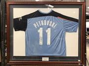 Sale 8805A - Lot 801 - Sydney FC Jersey, signed by Petrovski - worn at the A-League Grand Final where Petrovski scored the winning goal, with COA from Sydn...