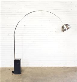 Sale 9151 - Lot 1094 - Marble based arc lamp by Flos (h:208cm)