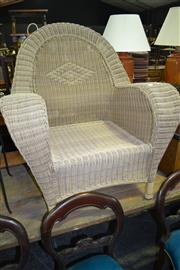 Sale 8093 - Lot 1314 - Oversized Cane Armchair