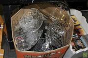 Sale 8217 - Lot 2104 - Box of Sundries incl Crystal Wares, Ceramics & Others