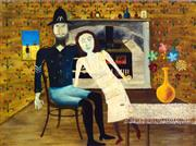 Sale 8658A - Lot 5097 - Sidney Robert Nolan (1917 - 1992) - Constable Fitzpatrick and Kate Kelly, 1946 25 x 33cm