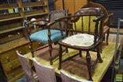 Sale 8326 - Lot 1675 - Tub Chair with Another Armchair