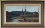 Sale 8903 - Lot 2045 - John Hansen - Approaching Mount Selwyn - Tumut Area 29.5 x 59.5 cm