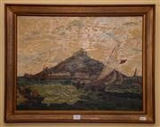 Sale 7997 - Lot 39 - ARTIST UNKNOWN - Sailing Ships in the Harbour 38 x 51