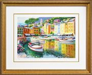 Sale 8282A - Lot 6 - Howard Behrens (1933 - 2014) - Portofino Harbour, Italy 36 x 50.5cm