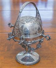 Sale 8402H - Lot 49 - An egg coddler with repousse decoration. Height 28cm.