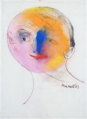 Sale 8410A - Lot 5040 - Anne Hall (1945 - ) - Untitled, 1967 (Blue-nosed Model) 76.5 x 56cm (sheet size)