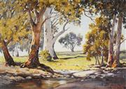 Sale 9055A - Lot 5050 - Dudley Parker (1914 - 1989) - Shaded Creek, Orrobee, SA 43.5 x 62.5 cm (frame: 62 x 85 x 4 cm)