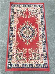 Sale 9080 - Lot 1052 - Persian Red and Blue Tone Hall Runner (108 x 60cm)