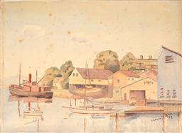Sale 9256A - Lot 5048 - ARTIST UNKNOWN Careening Cove, 1931 watercolour (unframed) 28 x 38 cm signed and dated lower right