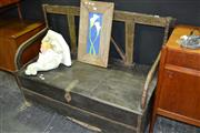 Sale 8013 - Lot 1007 - Indian Cart Teak Bench w Storage (81)