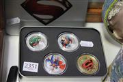 Sale 8139 - Lot 2351 - Gold & Silver Plated Superman Set in Tin