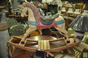 Sale 8312 - Lot 1068 - Vintage Carved Timber Rocking Horse