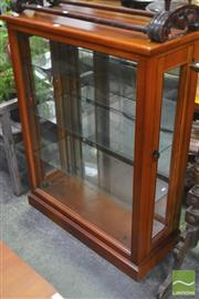 Sale 8323 - Lot 1051 - Timber Display Cabinet with Glass Shelves
