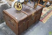 Sale 8326 - Lot 1668 - Timber Bound Travelling Trunk