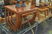 Sale 8331 - Lot 1376 - Nest of Three Timber Tables